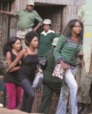 Recently arrested Zimbabwean female rapists