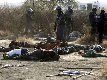 CRUEL: Police Open Fire On Striking South African Miners, At Least 18 Killed