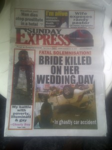 SADNESS: Bride Dies In An Accident On Her Way To Church For Wedding