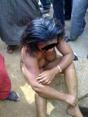 Refused The Men Forcefully Removed Her Clothes And Stripped Naked