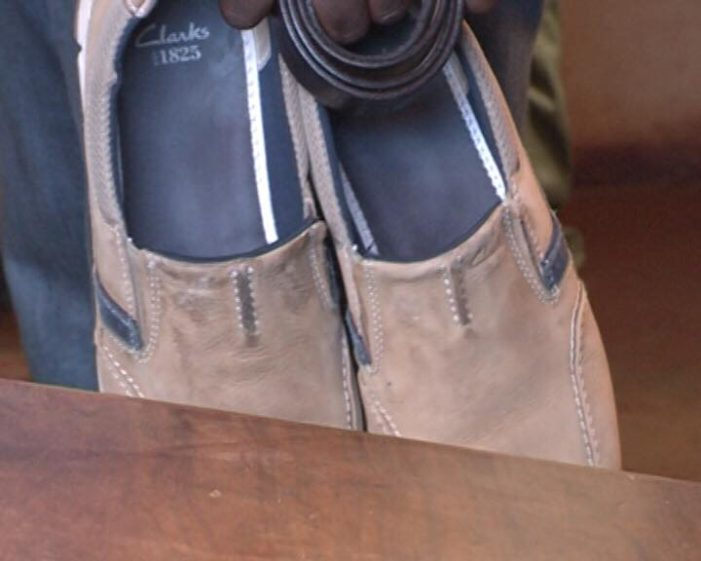 Photo: Hakainde Hichilema's Shoes And Belt Before Been Thrown Into Jail