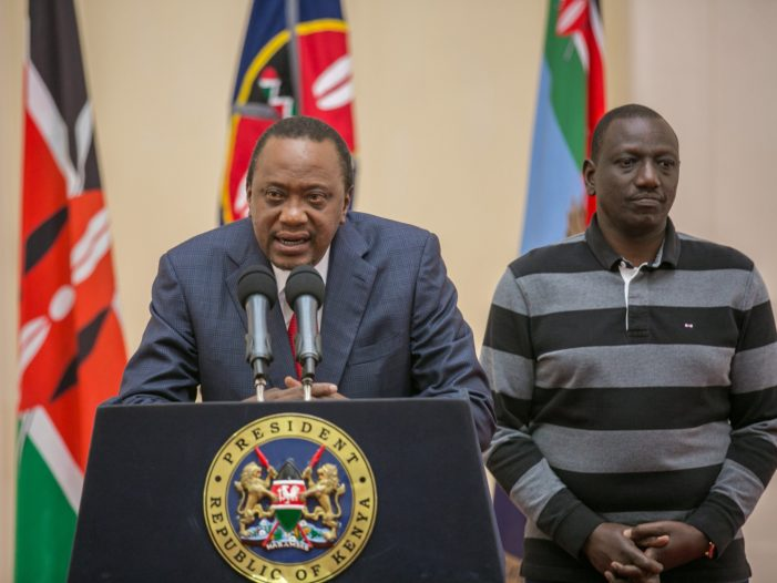 Kenyatta Threatens To Remove Odinga If Opposition Wins Re-Run
